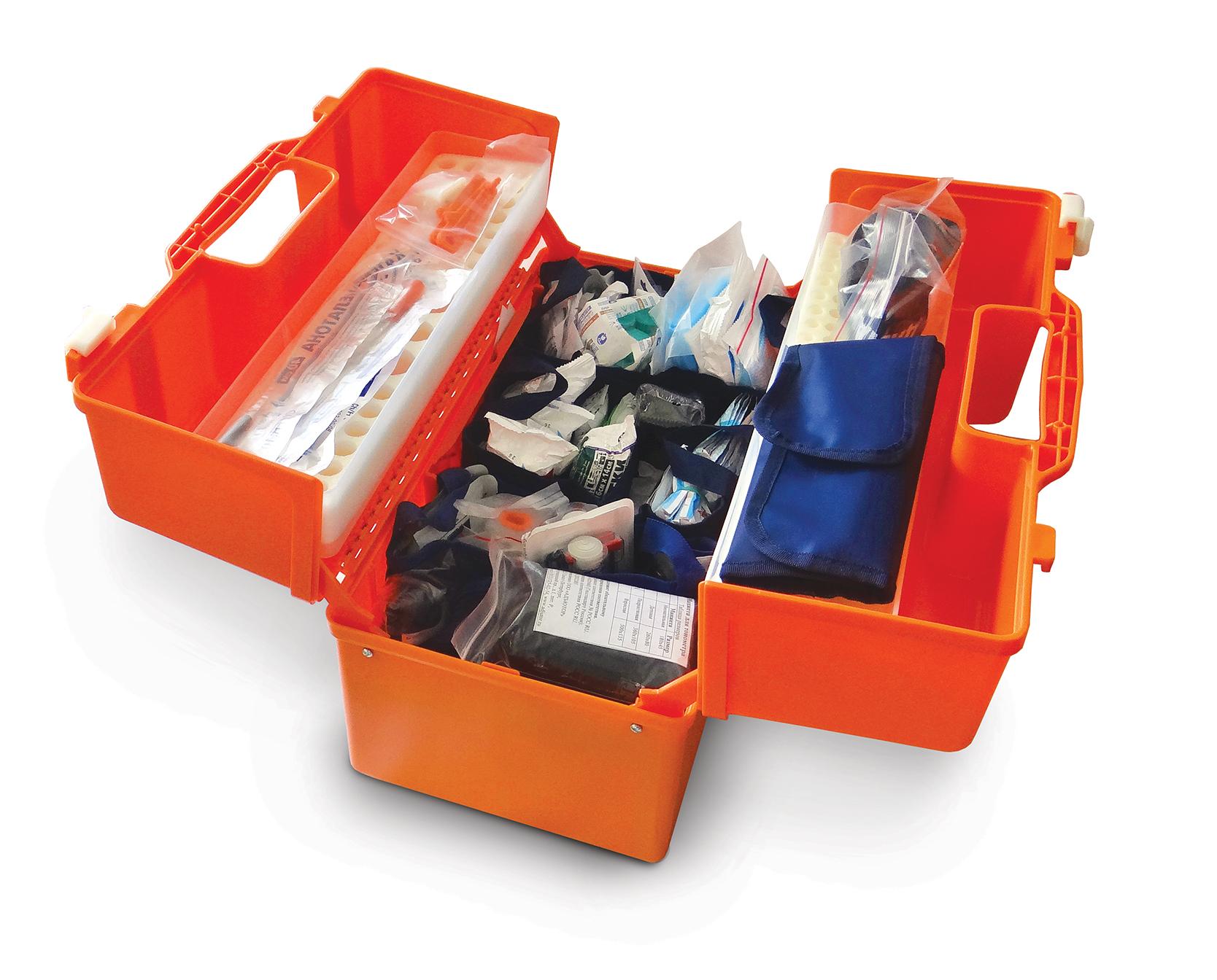Укладка для оказания скорой медицинской помощи УМСП-02-«МЕДПЛАНТ» общепрофильная / специализированная (общепрофильная) в укладке УМСП-01-Пм/2