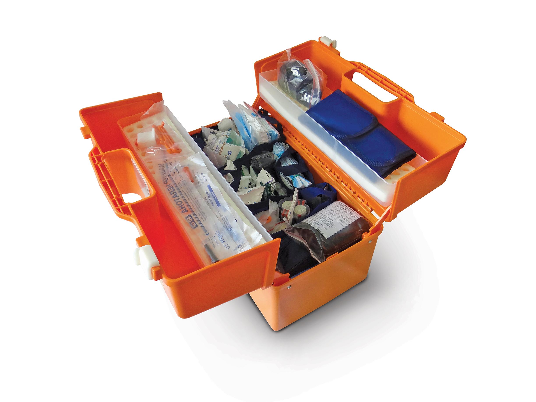 Укладка для оказания скорой медицинской помощи УМСП-02-«МЕДПЛАНТ» общепрофильная / специализированная (реанимационная) в укладке УМСП-01-Пм/2
