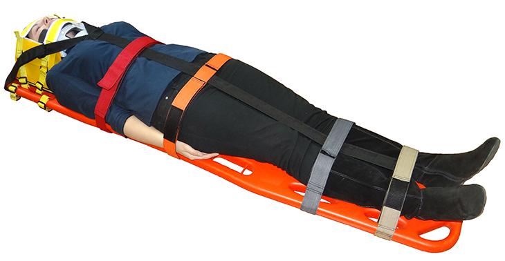 Щит спинальный иммобилизационный с фиксатором головы и ременной системой (комплект)
