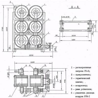 Регенератор воздуха РУ-150/6