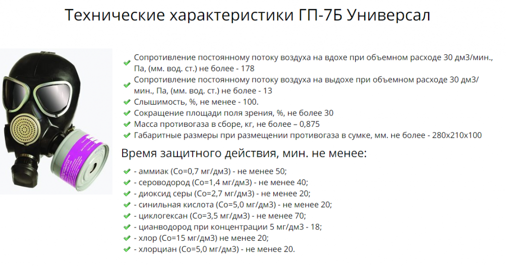 ГП7Б Универсал характеристики